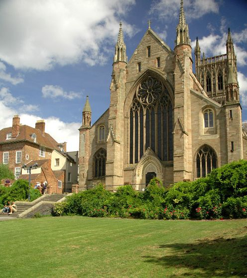 Worcester Cathedral makes me think of summers lounging around in the grounds.