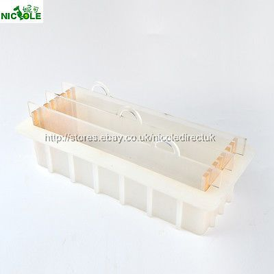 Swirl Vertical Loaf Soap Mold Silicone Wooden Box Rendering Separator DIY Tools