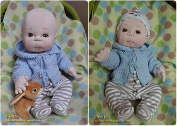 """Fretta's Newborn Baby Boy. Weighted Empathy Baby. Realistic looking jointed 50.8 cm /20"""" Soft Sculpture Heavy Baby. Child Friendly Doll."""