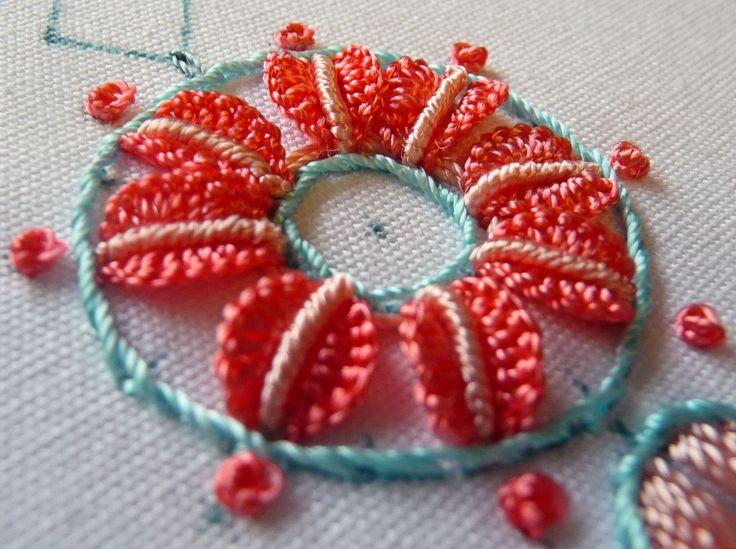 Brazilian Embroidery Tutorials http://rosaliewakefield-millefiori.blogspot.com/2012/10/brazilian-embroidery-stitch-techniques.html