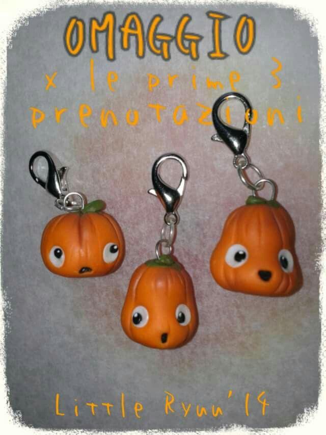 Cute halloween pumpkins fimo charms