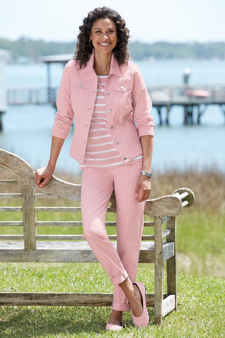 Pink dress with jean jacket   best August  Pink images on Pinterest  Pastel pink Thoughts