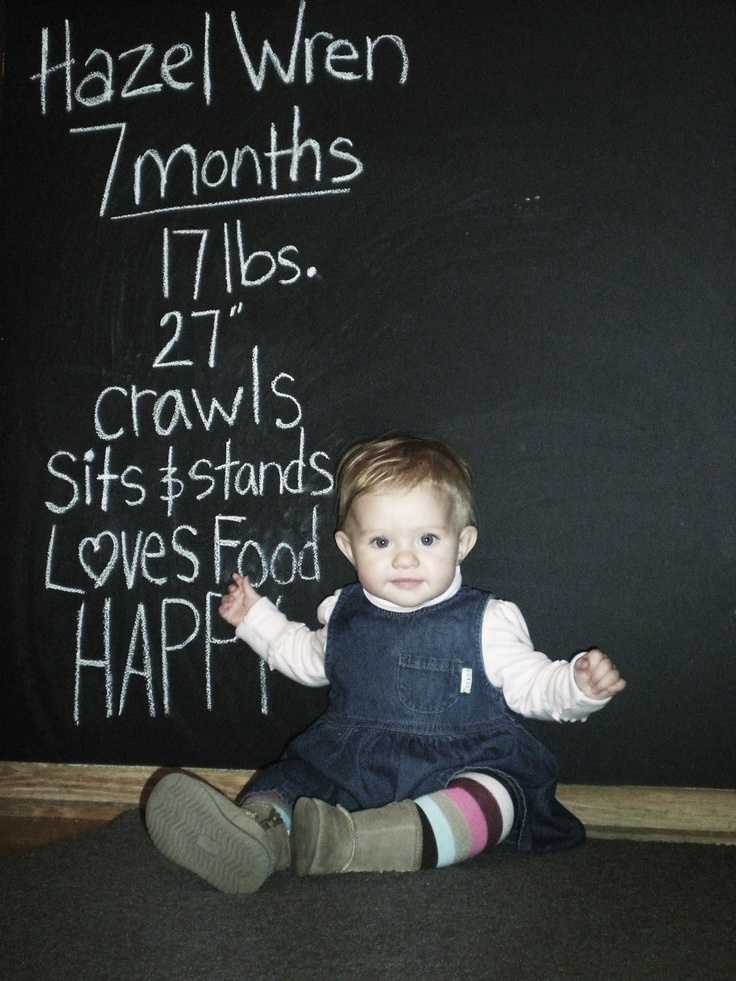 great idea to keep family & friends up to date and makes a nice timeline for the future: Good Ideas, Photos Ideas, Nice Timeline, Cute Ideas, Cool Ideas, Photos Timeline, New Baby, Expectations Mom, Chalkboards Wall