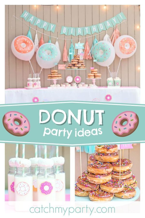 Donuts Birthday Crazy For Donuts Party Catch My Party Donut Themed Birthday Party Donut Birthday Parties Donut Party