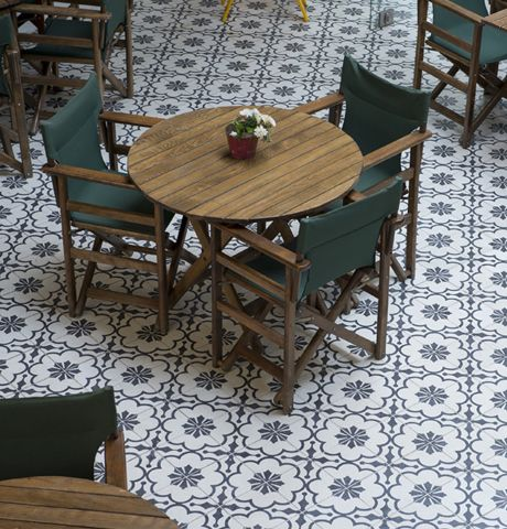 Our floor tiles have an 8mm glaze which allows them to be re-ground several times making them ideal for both residential and commercial applications, in addition to our extensive range of existing patterns we can create bespoke designs to order.