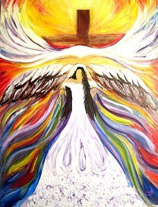 Prophetic Art Painting - Rise Up With Wings As Eagles by Jewell McChesney
