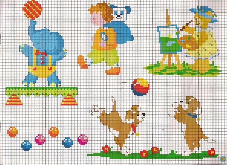 17 migliori idee su orsetti per bambini su pinterest for Disegni punto croce per bavaglini