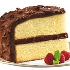 Double Yummy Yellow Cake - Try this version of yellow cake that is made with less than half of the sugar of regular cake but still tastes great.