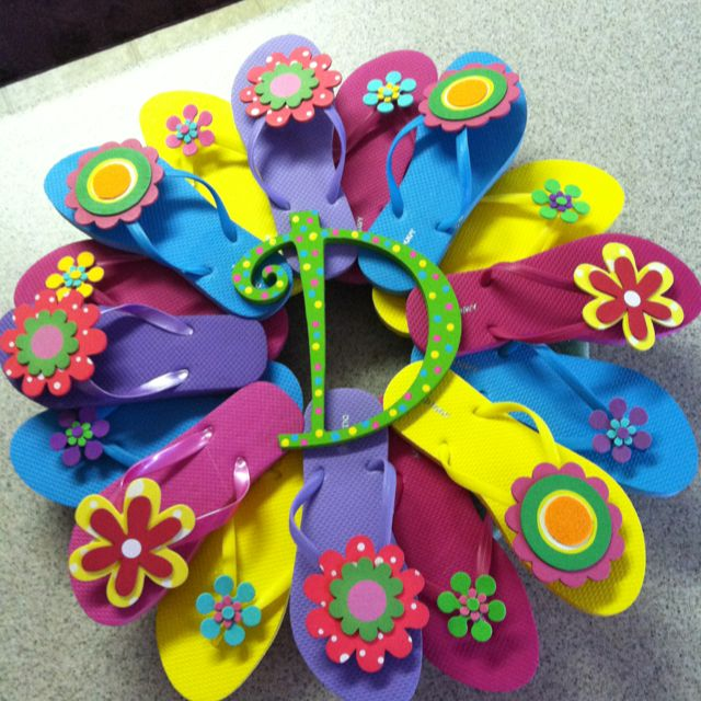 My first flip flop wreath