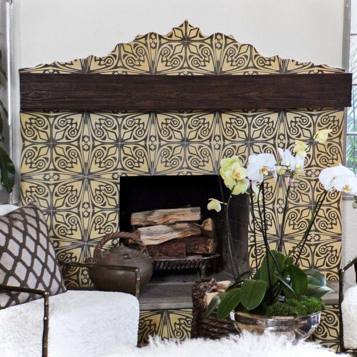 13 best Cement Tile Fireplace images on Pinterest | Fire places ...