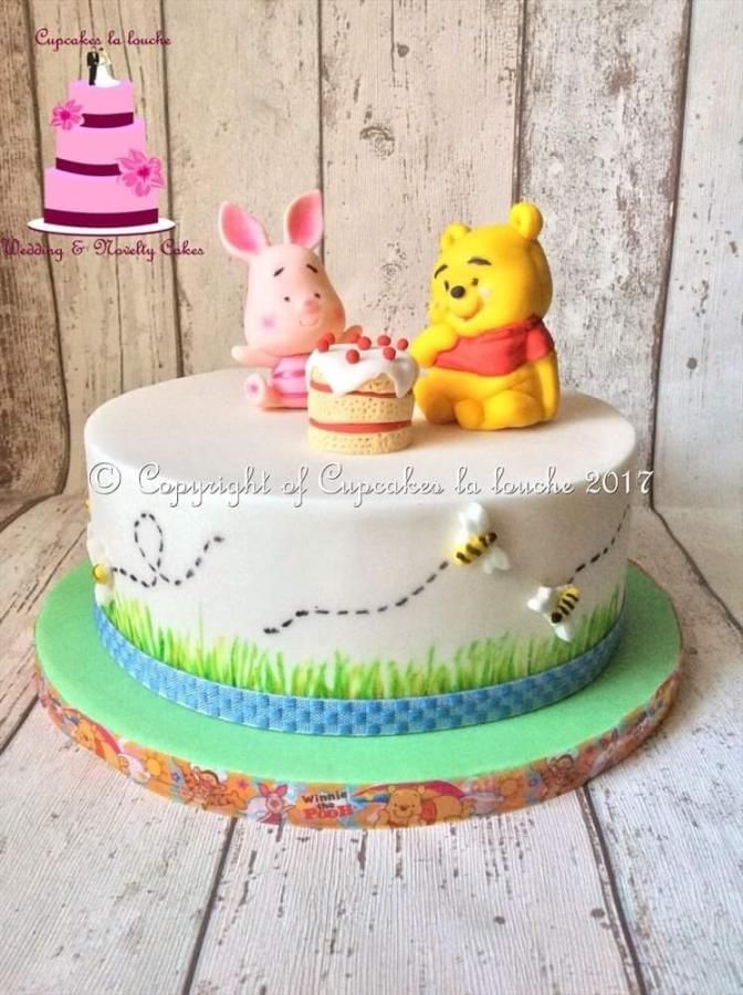 Winnie the pooh & piglet cake by Cupcakes la louche wedding & novelty cakes - http://cakesdecor.com/cakes/284672-winnie-the-pooh-piglet-cake