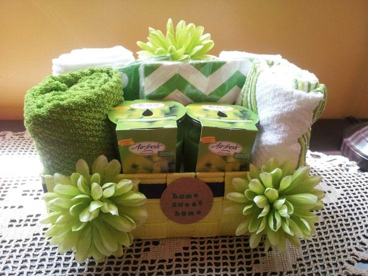 Mini housewarming basket
