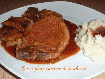 Les plats cuisinés de Esther B: Côtelettes de porc (autocuiseur/presto)