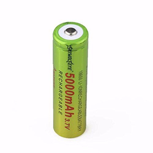 Covermason 1×3.7V 18650 5000mAh Li-ion Rechargeable batterie pour lampe torche: Price:1.49Package Includes: 1x 18650 3.7v Rechargeable…