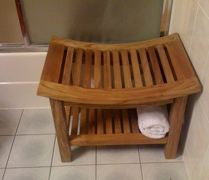 Curved Shower Bench Teak Showers And Shower Benches