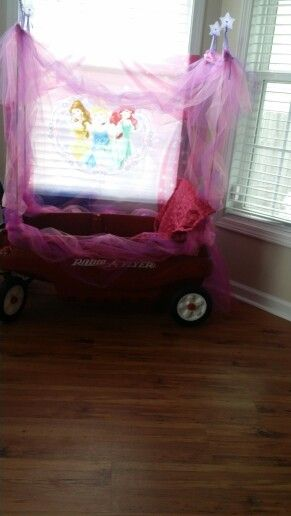 radio flyer wagon turned into a princess carriage - Kids Halloween Radio