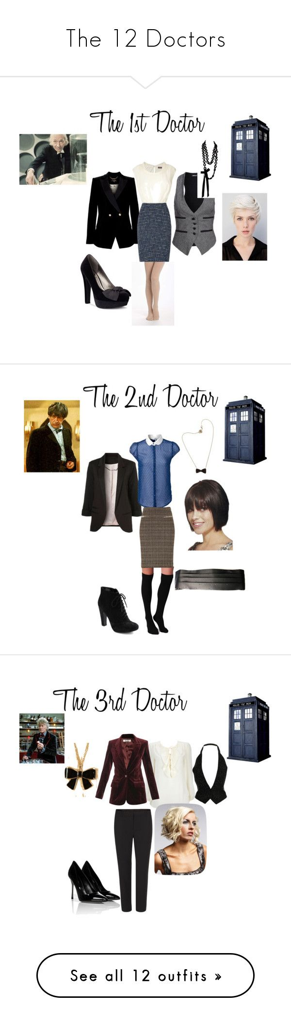 """""""The 12 Doctors"""" by nchavez113 ❤ liked on Polyvore featuring Denham, Ted Baker, Sally Phillips, G by Guess, Phase Eight, Pure + Good, Plush, Aubin & Wills, Etro and Seychelles"""