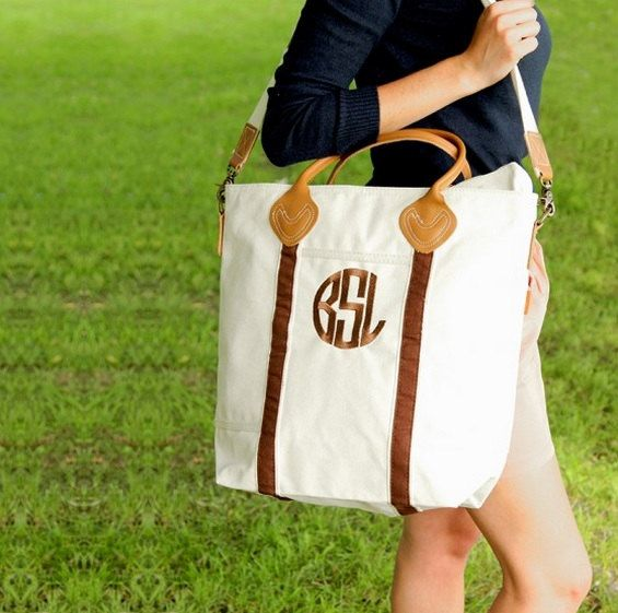 Our Monogram Carryall Tote Bag is perfect for a day at the airport or a casual day around town. The high quality, thick canvas is durable and able