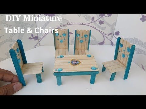 Dining Table Chairs Set Diy Miniature Dollhouse Furniture From