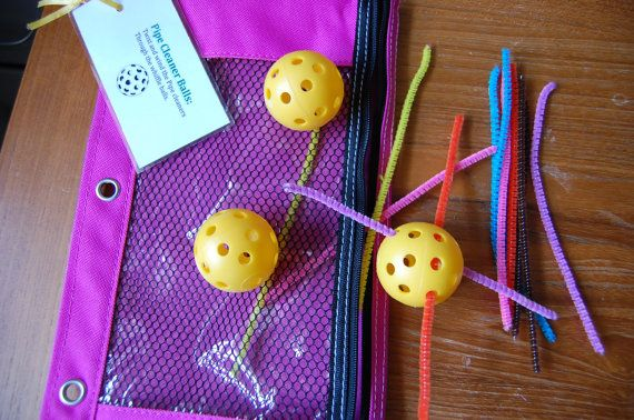 Whiffle Ball Busy Bags for 2-4 year olds