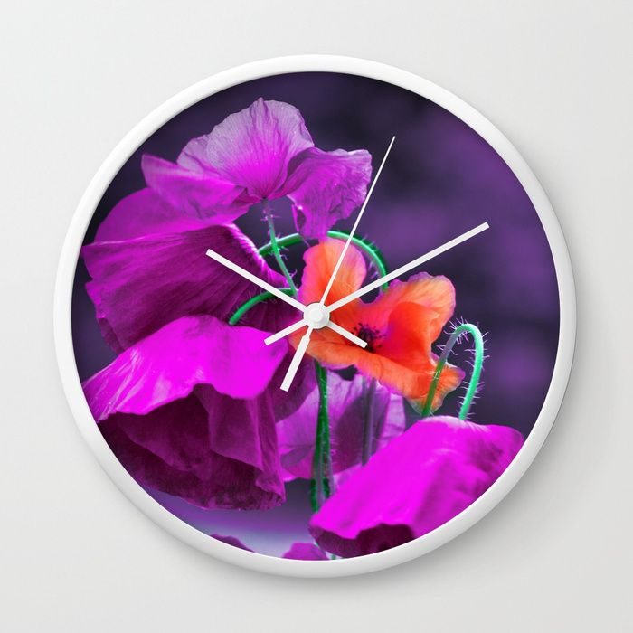 Buy Vintage poppies (7) Wall Clock by maryberg. Worldwide shipping available at Society6.com. Just one of millions of high quality products available.