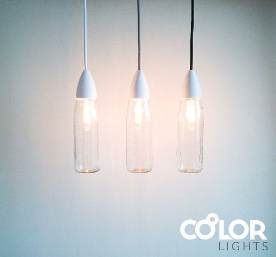 Customizable Pendant Light Fresh Set of 3  #pendant #recycling #upcycling #pendantlight