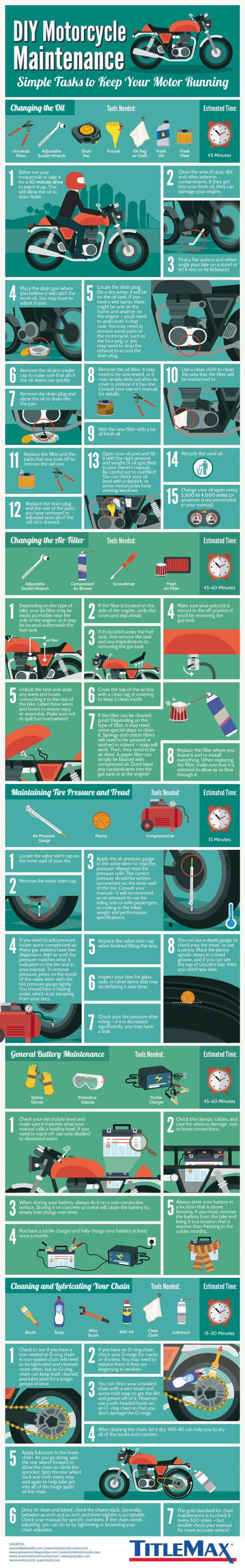 DIY Motorcycle Maintenance Infographic