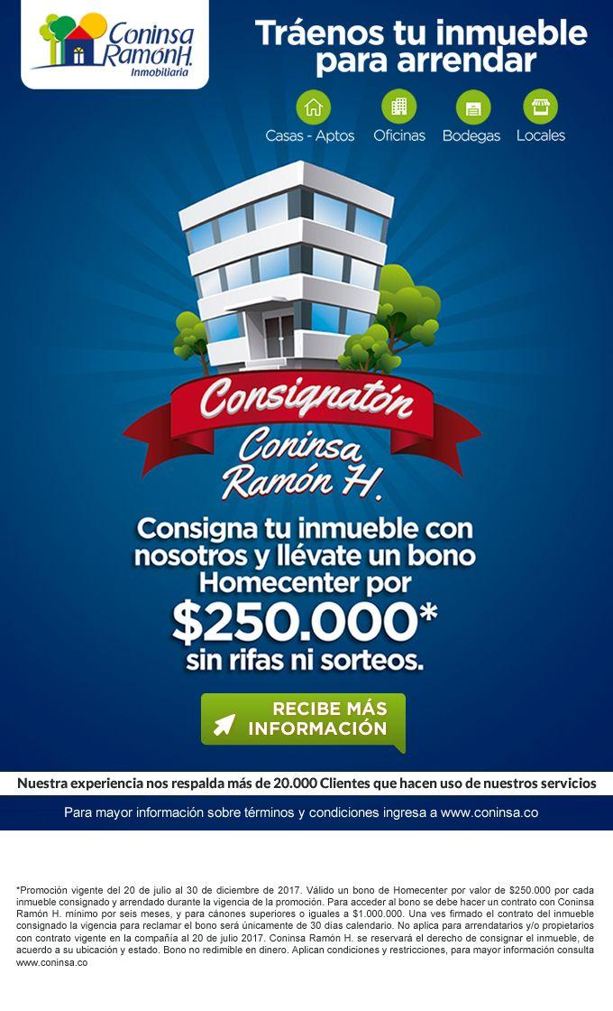 #NOVOCLICK esta con #Coninsa RamonH #Consignatón #ArriendaTuInmueble