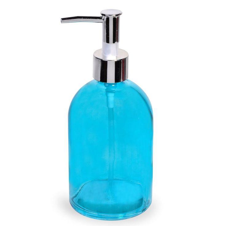 Σαπουνοδοχείο Μπάνιου Γυάλινο Γαλάζιο 500 ml.