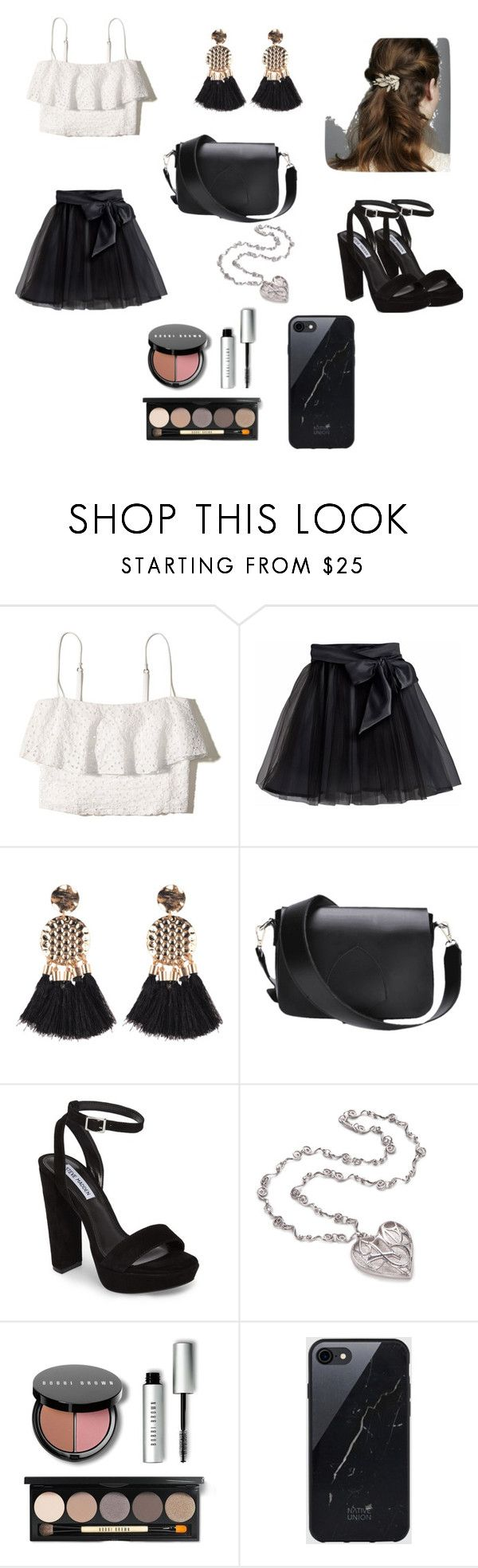 """Untitled #48"" by palaghia-teona on Polyvore featuring Hollister Co., Little Wardrobe London, Steve Madden, Bobbi Brown Cosmetics and Sefton"