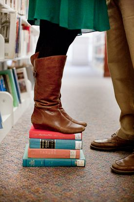 Alexandria Public Library Wedding Engagement Session