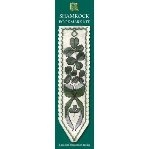 Spread the Luck of the Irish this St Patrick's Day with a Shamrock Cross Stitch by Textile Heritage Bookmarks #crossstitch #bookmark #books #crafts #diy #handmade #homemade #artsandcrafts #irish #shamrock #craftycornersau