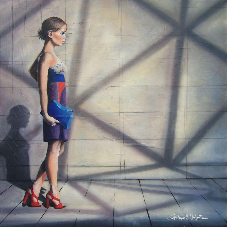 LE SOLEIL, ©2014, acrylic on paper and canvas, 100 x 100 x 3.8 cm, 39.4 X 39.4 x 1.50 in  Series: 30/TRENTESIMI   #SCENOGRAPH2ART #GaeTanoeValentina2art #Sem #painting #FineArt #Acrylic #Art #арт #искусство #paris #BAUDELAIRE