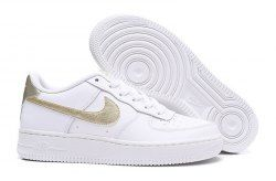 2315912c2a9f Unisex Nike Air Force 1 Summit White Mtlc Gold Star 314219 127 Men s  Women s Basketball Shoes