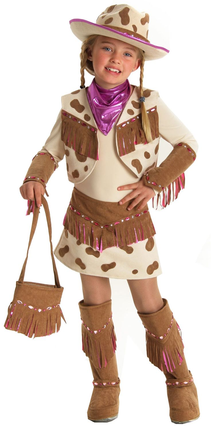Toddler Girl Cowgirl Costume | Child Rhinestone Cowgirl Costume – Kids Cowgirl Halloween Costumes