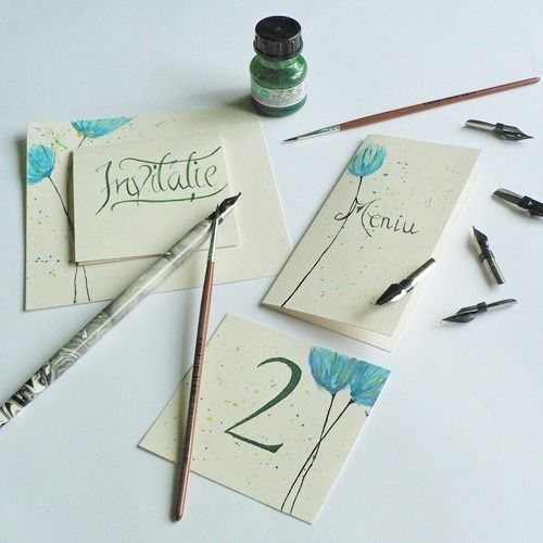 We love handmade #invitatii de nunta