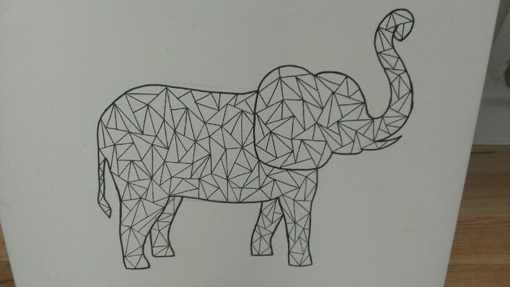 Graphic elephant - made by Kamilla med K