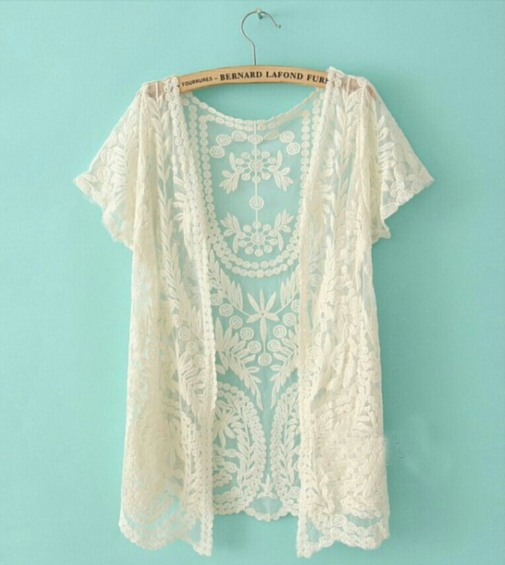 We see you decided to take a peek at our year round best seller!  This one size kimono is covered with dainty-sheer mesh, featuring crochet embroidery throughout. The scalloped trim will have others absolutely swooning over how effortlessly boho chic you will look! Can't decide which color you ...