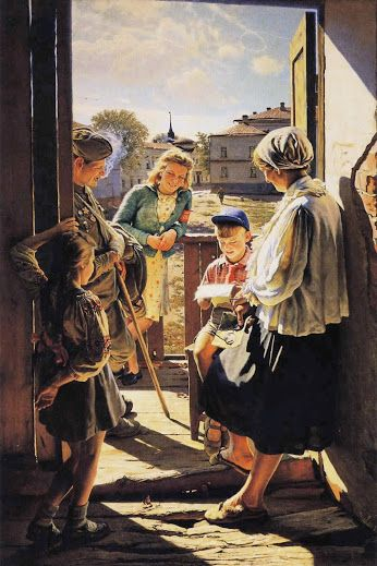 Artist : Aleksandr Laktionov (Russian , 1910 - 1972) Title : A Letter From the Front . «Письмо с фронта». Date : 1947Dumitru Coțe - Google+