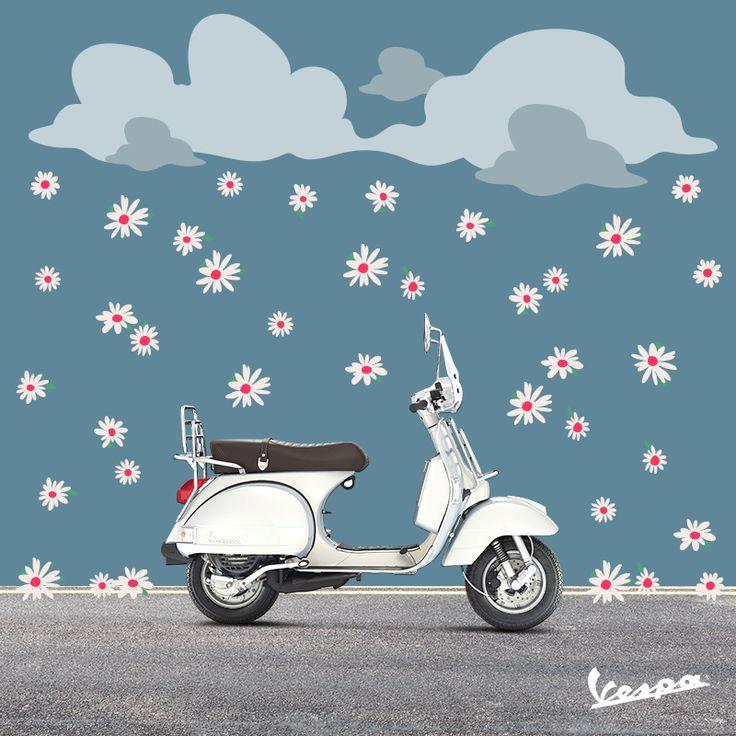 April showers bring May flowers… and Vespa rides! | #Vespa #VespaLover #april #MayFlowers