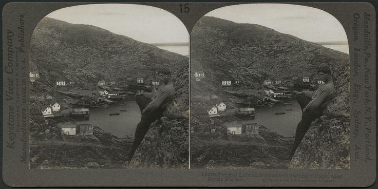 Typical Labrador coast and fishing village near Battle Harbour, circa 1900–1902 / Village de pêcheurs typique sur la côte du Labrador, près de Battle Harbour, vers 1900 1902   by BiblioArchives / LibraryArchives