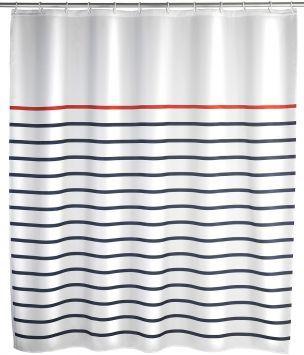 Wenko Duschvorhang »Marine«, blau/weiß
