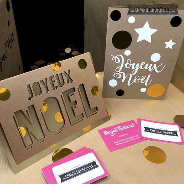 Ma vitrine au salon du Do it Yourself MAKING OF N°3 - Le Meilleur du DIY Réalisez vos cartes de NOEL avec le matériel trouvé chez @selfpackaging et @scrapmalin