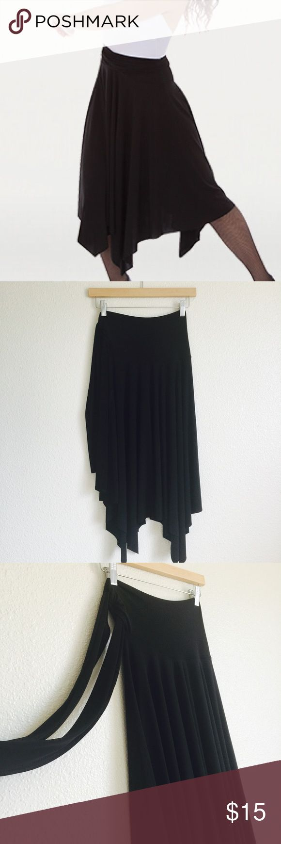 "• Body Wrapper in black • Can be worn in different waist. ""Waist"" measures 11 inches. And length is about 28 inches. Very flowy and stretchy. No flaws. Body Wrapper Skirts Asymmetrical"