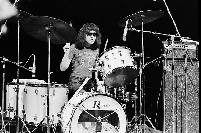 It's shocking that all four original Ramones are now dead – but it's also shocking that only one member of this archetypal rock band suffered rock's archetypal death by excess. Dee Dee OD'd, but it was cancer that took singer Joey and guitarist Johnny, now joined by drummer Tommy on July 11th, 2014. In Tommy's case, the cause was bile duct cancer, which first surfaced in March, 2013, when he had to cancel his Acoustic Anarchy tour with former Sex Pistol Glen Matlock.