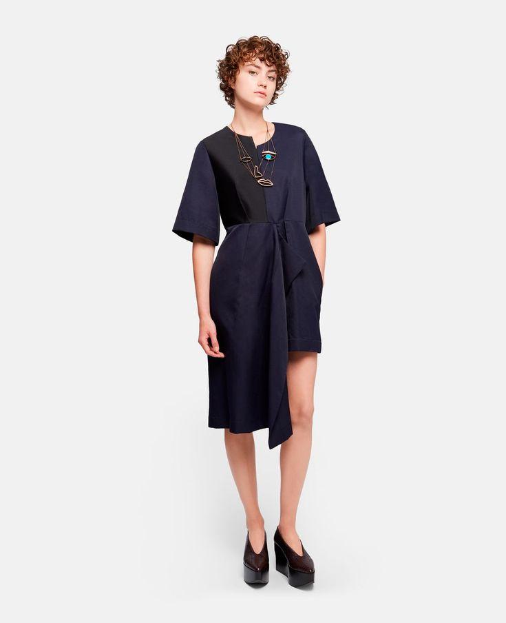 Neema Ink Asymmetric Dress - STELLA MCCARTNEY