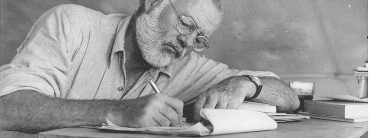 Sfaturi pentru scris de la Ernest Hemingway