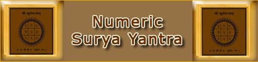 Numeric Surya Yantra