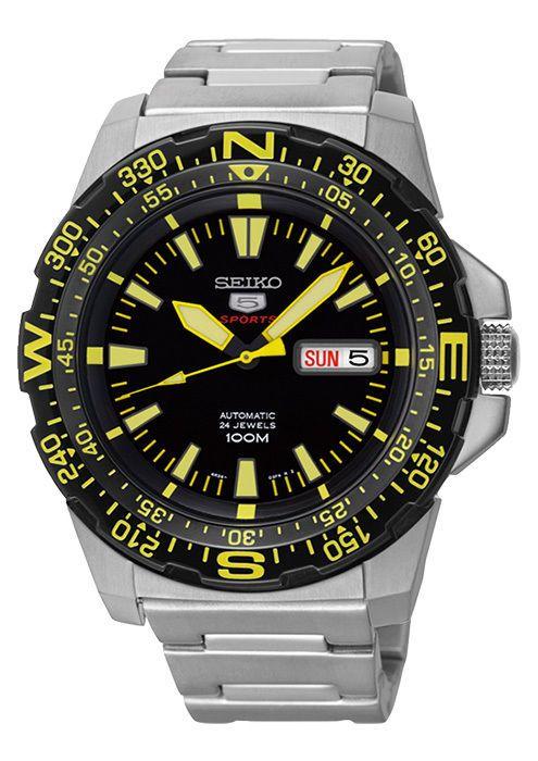 Seiko 5 Sports Automatic Water Resistance Watch Yellow SRP545K1 usd198