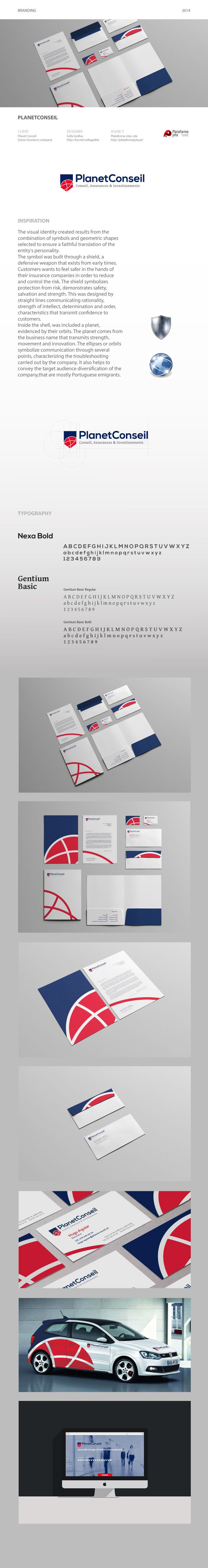 Visual Identity project for a Insurance swiss company.  Designer: Sofia Gralha